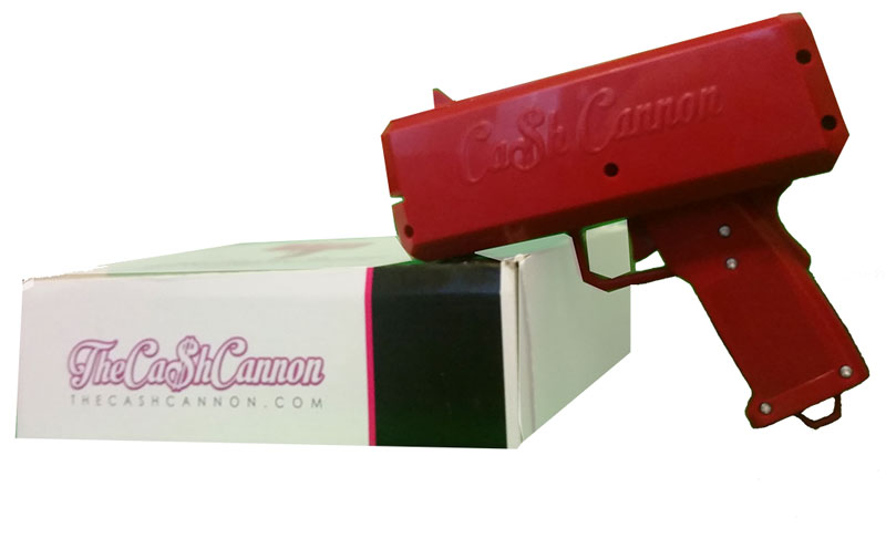 The Cash Cannon authentic box